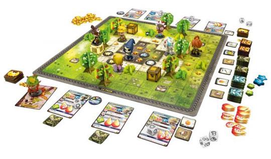 Krosmaster: Arena game in play