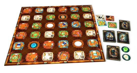 The Phantom Society board game in play
