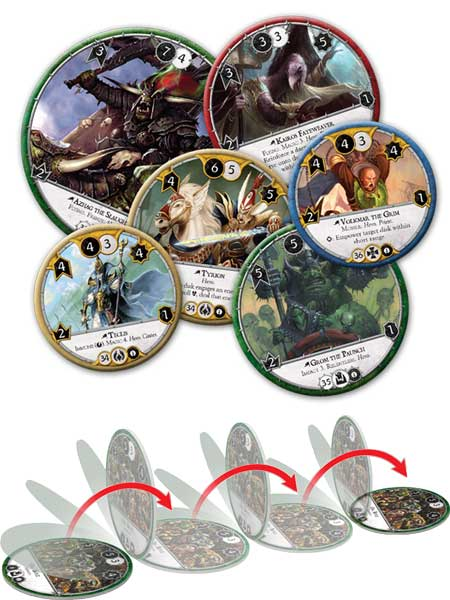 Warhammer: Diskwars discs and flipping