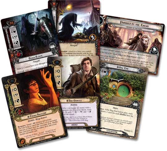 LOTR LCG Black Riders Saga Expansion cards