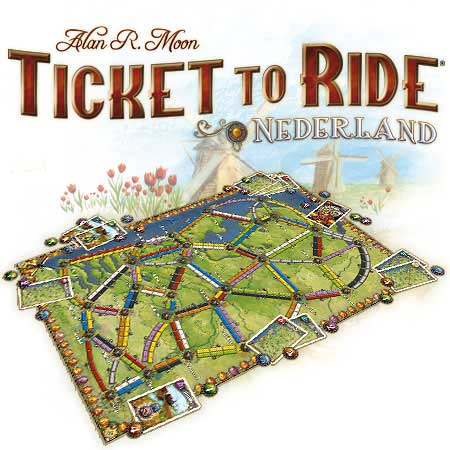 Ticket to Ride: Nederland expansion game in play