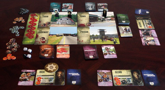 The Walking Dead: Best-Defense board game in play