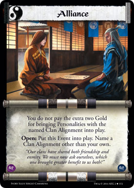 L5R: Ivory Edition - Alliance card