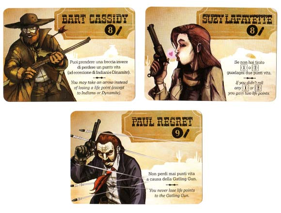 Bang! The Dice Game characters