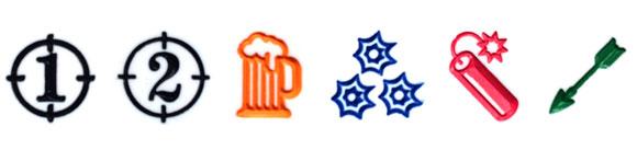 Bang dice symbols