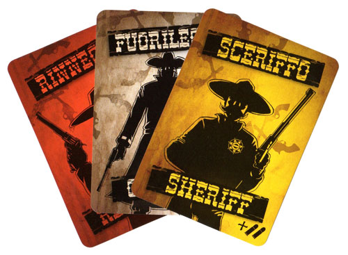 Bang! The Dice Game role cards