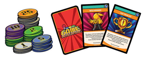 Game Developerz award cards and coinz