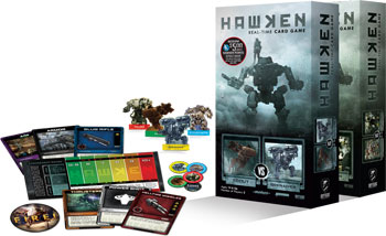 Hawken game box and components