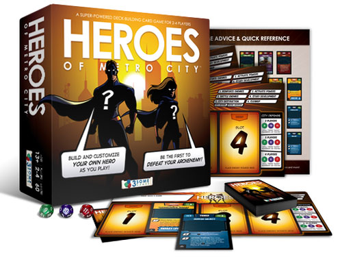 Heroes of Metro City box and components