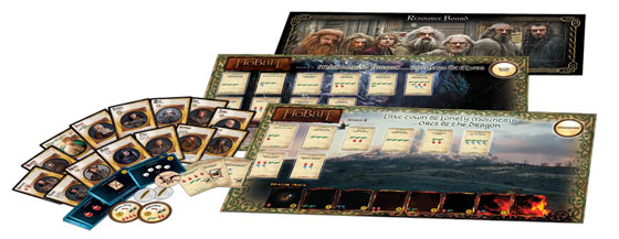 The Hobbit: The Desolation of Smaug Board Game components