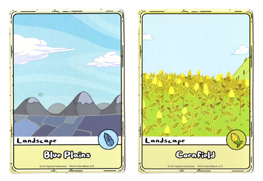 Adventure Time Card Wars Landscape boards