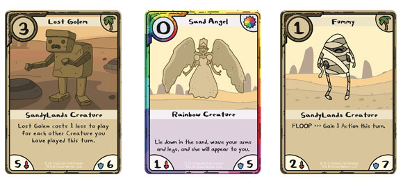 Adventure Time Card Wars Sand cards