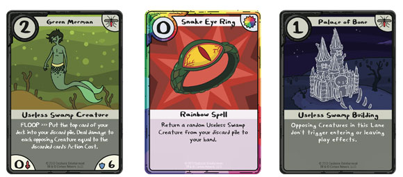 Adventure Time Card Wars Swamp-cards