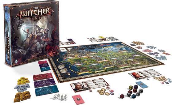 The Witcher Adventure Game in play