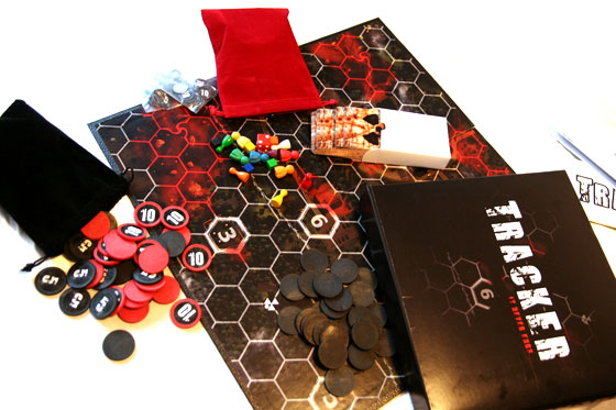 Tracker board game components