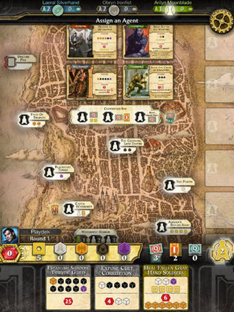 Lords of Waterdeep digital board game screenshot