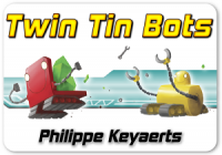 Twin Tin Bots - Board Game Box Shot