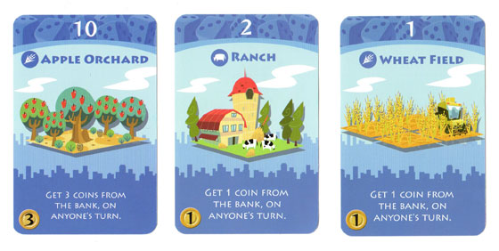 Machi Koro blue cards