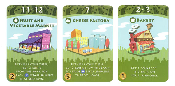 Machi Koro green cards