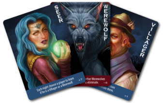 Role cards from Ultimate Werewolf: Deluxe Edition