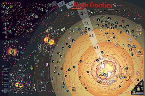 High Frontier: Colonization poster map