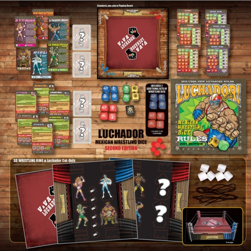Luchador! Mexican Wrestling Dice - Components
