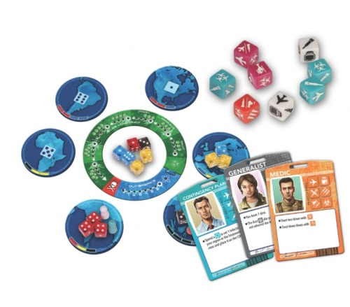 Pandemic: The Cure components