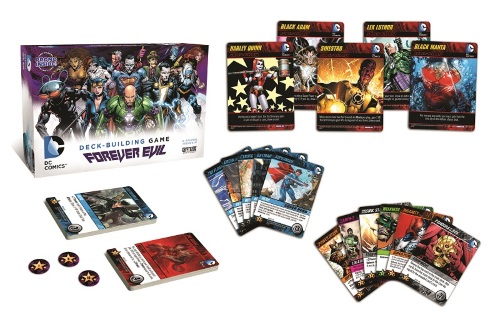 DC Comics Deck-Building Game: Forever Evil components