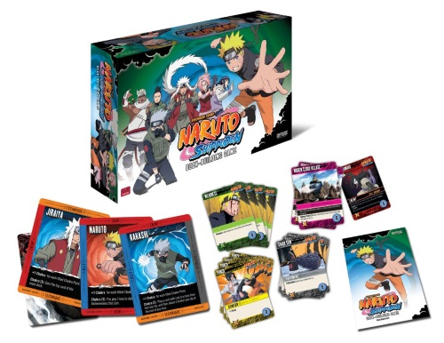 Naruto Shippuden Deck-Building Game components