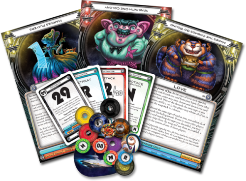 Cosmic Encounter: Cosmic Dominion components