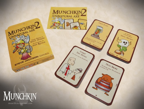 Munchkin 2: Unnatural Axe components