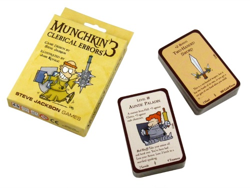 Munchkin 3: Clerical Errors components