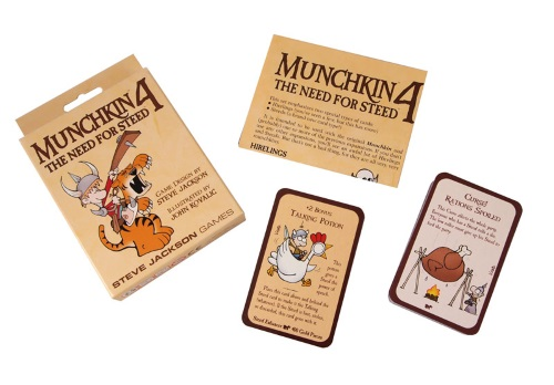 Munchkin 4: The Need for Steed components