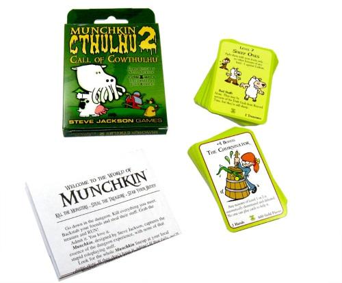 Munchkin Cthulhu 2: Call of Cowthulhu components