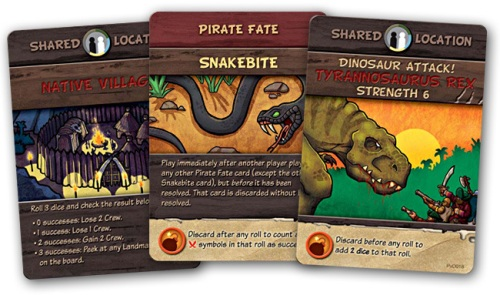 Pirates vs. Dinosaurs cards