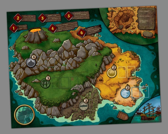 Pirates vs. Dinosaurs map