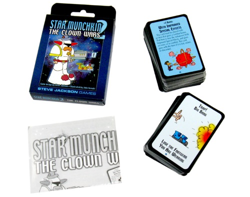 Star Munchkin 2: The Clown Wars components