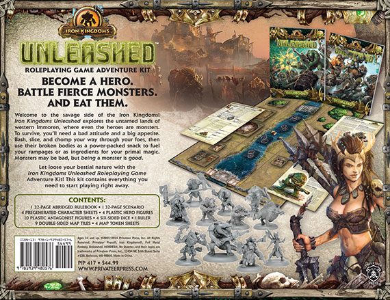 Iron Kingdoms Unleashed contents
