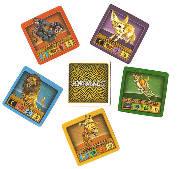 String Safari Animal Cards