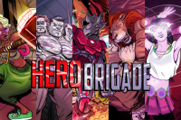 Hero Brigade: Hero Harder - Board Game Box Shot