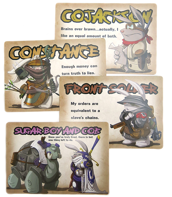 Cross Hares Character Cards