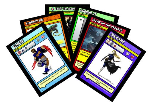 Villains and Vigilantes cards