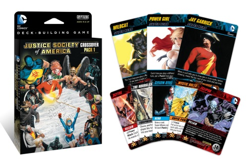 DC Comics Deck-Building Game: Crossover Pack #1: Justice Society of America components