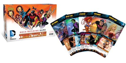 DC Comics Deck-Building Game: Teen Titans components