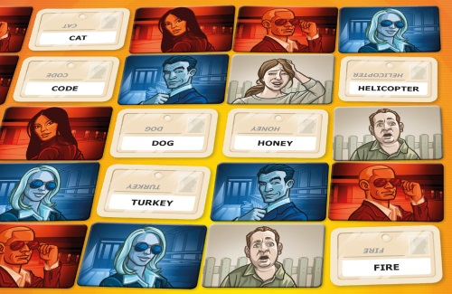 Codenames layout