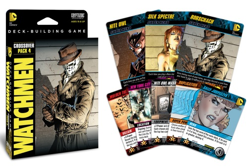 DC Comics Deck-Building Game: Crossover Pack #4: Watchmen components