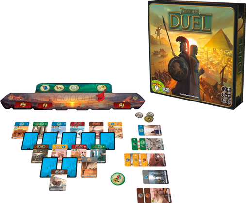 7 Wonders: Duel layout