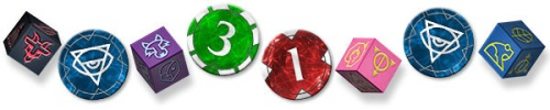 Ashes: Rise of the Phoenixborn dice & tokens