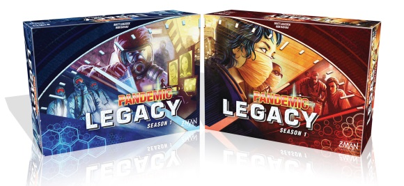 Pandemic Legacy: Season 1 boxes
