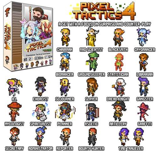 Pixel Tactics 4 heroes
